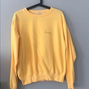 Brandy Melville yellow Honey sweater